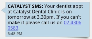 SMS NOTIFICATIONS - DENTIST