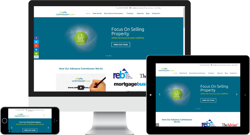 FUEL GROUP WEBSITE DESIGN - RESPONSIVE WEBSITES - COMMISSION FLOW PROJECT